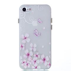 Недорогие Кейсы для iPhone 7-Назначение Чехлы панели Сияние в темноте Задняя крышка Кейс для Бабочка Мягкий Термопластик для Apple iPhone 7 Plus iPhone 7 iPhone 6s