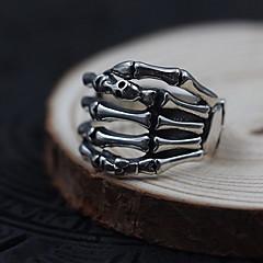 preiswerte Ringe-Herrn Damen Ring Schmuck individualisiert Sterling Silber Totenkopfform Schmuck Für Alltag Normal