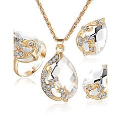 Dames Kristal Kostuum juwelen 1 Ketting 1 Paar Oorbellen Voor Feest Causaal Giften van het Huwelijk
