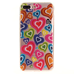 abordables Ofertas de Hoy-Funda Para iPhone 7 / iPhone 7 Plus / iPhone 6s Plus IMD / Transparente / Diseños Funda Trasera Corazón Suave TPU para iPhone SE / 5s