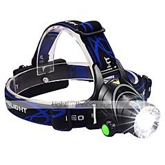preiswerte Stirnlampen-Stirnlampen LED 1600 lm 3 Beleuchtungsmodus inklusive Batterien und Ladegerät Zoomable- / Wasserfest / einstellbarer Fokus Camping / Wandern / Erkundungen / Für den täglichen Einsatz / Radsport