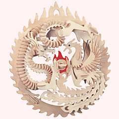 puzzle-uri Puzzle Lemn Blocuri de pereti DIY Jucarii Clădire celebru Arhitectura Chineză Casă 1 Lemn Cristal Jucărie de Construit & Model