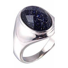 Męskie Duże pierścionki Pierscionek Modny Wszechświat Syntetyczne kamienie szlachetne Stal tytanowa Biżuteria Na Codzienny Casual
