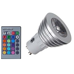 3W E14 GU10 GU5,3(MR16) GU5.3 LED-kohdevalaisimet MR16 1 COB 300 lm RGB Himmennettävä Kauko-ohjattava Koristeltu AC 85-265 V 1 kpl