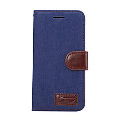 Voor Portemonnee Kaarthouder met standaard Flip hoesje Volledige behuizing hoesje Effen kleur Hard PU-leer voor LG LG G5 LG G4 LG G3