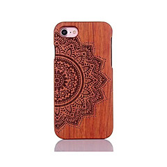 For Stødsikker Præget Mønster Etui Bagcover Etui Mandala-mønster Hårdt Træ for AppleiPhone 7 Plus iPhone 7 iPhone 6s Plus/6 Plus iPhone