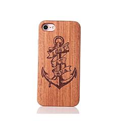 Для Защита от удара Рельефный С узором Кейс для Задняя крышка Кейс для Якорь Твердый Дерево для AppleiPhone 7 Plus iPhone 7 iPhone 6s