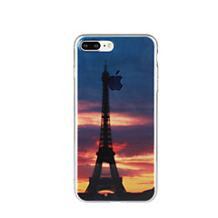 Mert Minta Case Hátlap Case Eiffel torony Puha TPU mert Apple iPhone 7 Plus iPhone 7 iPhone 6s Plus/6 Plus iPhone 6s/6