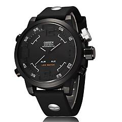 Men's Sport Watch Military Watch Fashion Watch Wrist watch Digital Watch Quartz Digital Genuine Leather Band Vintage Casual Multi-Colored
