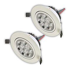 z®zdm 2szt 7W 750-850lm wysokiej ściemniania lampek panelu Power LED ciepły biały zimny biały biały naturalny ac110ac220vac12v