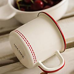 Szklanki, 400 Emalia Odsłonięte mleko Kubki do kawy Kubki turystyczne