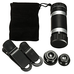 8 times the phone monocular telescope universal telephoto lens wide-angle macro fish fisheye four-in-one mobile phone lens