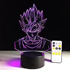 preiswerte Ausgefallene LED-Beleuchtung-1 Stück 3D Nachtlicht Fernbedienungskontrolle / Farbwechsel / Größe S Künstlerisch / LED / Modern / Zeitgenössisch