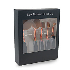 hesapli -5 Fırça Setleri Allık Fırçası Far Fırçası Eyeliner Fırçası Kapatıcı Fırçası Fondöten Fırçası Sentetik Saç Profesjonalne Tam Kaplama Reçine