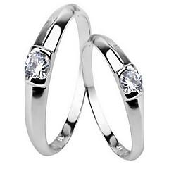 Erkek Kadın Yüzük Mücevher Moda Klasik lüks mücevher Som Gümüş Zirkon Kübik Zirconia Mücevher Uyumluluk Parti Günlük