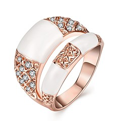 preiswerte Ringe-Damen Kristall Ring - Roségold, Krystall, versilbert 6 / 7 / 8 Gold / Silber Für Halloween / Rose Gold überzogen