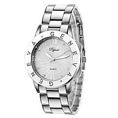 preiswerte Tolle Angebote auf Uhren-Damen Armbanduhren für den Alltag / Modeuhr / Kleideruhr Imitation Diamant Plastic Band Silber / Gold / Rotgold