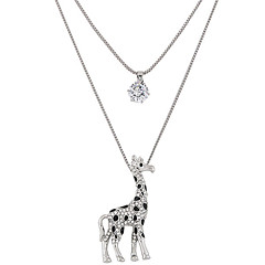 Dames Hangertjes ketting Strass imitatie Diamond Legering Dierenvorm Dubbele laag Modieus Zilver Sieraden Feest Dagelijks 1 stuks