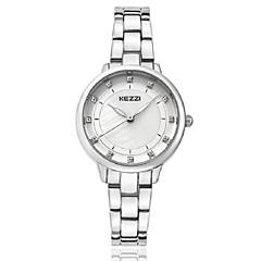 preiswerte Herrenuhren-KEZZI Damen Armband-Uhr Armbanduhr Quartz Japanischer Quartz Imitation Diamant Legierung Band Analog Luxus Freizeit Modisch Silber / Rotgold - Gold Silber