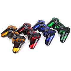 Draadloze dual shock zes-as bluetooth controller voor ps3 (multicolor)