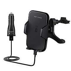 cheap Car Monitors-Fast Car Wireless Charger 10.8W Fast Charge  Air Outlet Holder for Samsung Galaxy S8 S8 edge S7 S7 edge S6 edge Plus Note5 and All Qi Smartphone