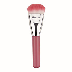 رخيصةأون -فرشاة كريم الأساس الاصطناعية الشعر محمول للسفر الخشب الوجه