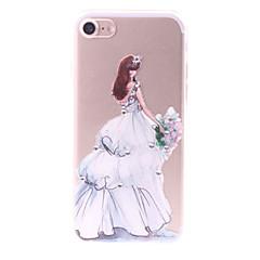 Для Стразы С узором Своими руками Кейс для Задняя крышка Кейс для Соблазнительная девушка Мягкий TPU для AppleiPhone 7 Plus iPhone 7