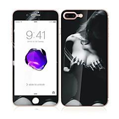 для Apple Iphone 7 плюс 5,5 закаленного стекла с мягким краем передней полный охват экрана и задней протектор экрана шаблона Sexy Lady