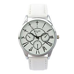 voordelige Herenhorloges-Dames Modieus horloge Kwarts Hot Sale Leer Band Amulet Wit Blauw Rood Bruin
