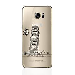 Mert Átlátszó Minta Case Hátlap Case Kilátás Puha TPU mert Samsung S7 edge S7 S6 edge plus S6 edge S6 S5 S4