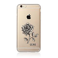Недорогие Кейсы для iPhone 4s / 4-Кейс для Назначение Apple iPhone 7 / iPhone 7 Plus Прозрачный / С узором Кейс на заднюю панель Цветы Мягкий ТПУ для iPhone 7 Plus / iPhone 7 / iPhone 6s Plus