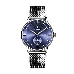 Relógio Elegante Relógio de Moda Quartzo Lega Banda Preta Azul Preto Azul