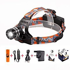 U'King Headlamps Headlight LED 2000 lm 3 Mode Cree XM-L T6 with Battery and Chargers Zoomable Adjustable Focus Easy Carrying High Power