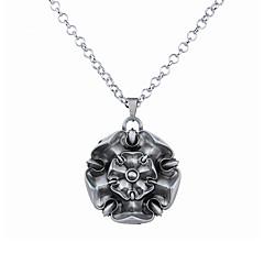 Недорогие Ожерелья-Муж. Жен. С логотипом Ожерелья с подвесками - Цветы Уникальный дизайн, В виде подвески Серебряный, Бронзовый Ожерелье Бижутерия Назначение