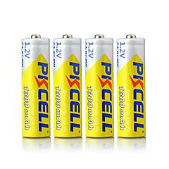voordelige Batterijen-pkcell oplaadbare AA 1300mAh 1.2V NiMH-batterij 4 stuks