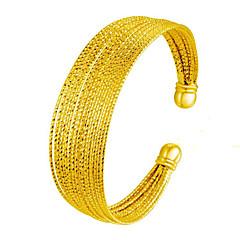 Женский Браслет разомкнутое кольцо Природа Мода Винтаж Медь Позолота 24K Plated Gold Шарообразные Бижутерия ДляСвадьба Для вечеринок