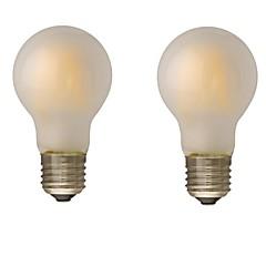 お買い得  LED 電球-ONDENN 2pcs 4W 400lm E26 / E27 B22 フィラメントタイプLED電球 G60 4 LEDビーズ COB 調光可能 温白色 110-130V 220-240V