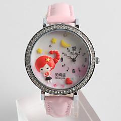preiswerte Tolle Angebote auf Uhren-Damen Modeuhr Quartz / Silikon Band Analog Freizeit Zeichentrick Schwarz / Weiß / Blau - Blau Rosa Weiß / Rot