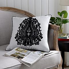 1 szt Bawełna Pokrywa Pillow,Upiększać i haftowane Tradycyjny / Classic Akcent / Decorative