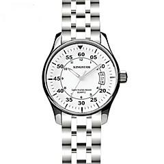 preiswerte Tolle Angebote auf Uhren-Herrn Armbanduhr Kalender / Wasserdicht / Cool Edelstahl Band Freizeit / Modisch Silber