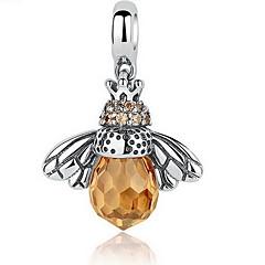preiswerte Halsketten-Damen Kristall Anhängerketten - Sterling Silber Biene Personalisiert, Luxus, Retro Gelb Modische Halsketten Für Geburtstag, Alltag