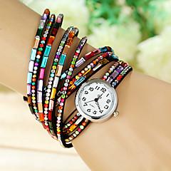 お買い得  大特価腕時計-女性用 レディース ファッションウォッチ クォーツ セラミック バンド ハンズ チャーム カジュアル ブラック / ブルー / レッド - ブルー ピンク スクリーンカラー