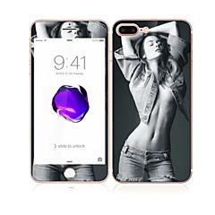 Apple iPhone 7 4,7 hartowanego szkła z miękkiej krawędzi pełne pokrycie ekranu przedniej i tylnej Screen Protector Sexy Lady wzór