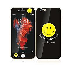 til Apple iPhone 6s plus / 6 plus 5,5 hærdet glas med blød kant foran skærmen fuld skærm dækning beskytter og rygbeskytter smile