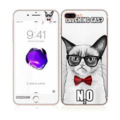 Apple iPhone 7 4,7 hartowanego szkła z miękkiej krawędzi pełne pokrycie ekranu przedniej i tylnej Screen Protector przystojny kot wzór