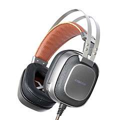 XIBERIA K10 Sobre oreja Cinta Con Cable Auriculares Dinámica Aluminum Alloy De Videojuegos Auricular Aislamiento de ruido Con Micrófono