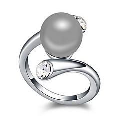 preiswerte Ringe-Damen Ring - Perle, Aleación Natur 13 / 15 / 17 Dunkelblau / Grau / Bronze Für Alltag