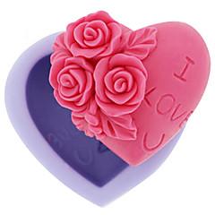 お買い得  ベイキング用品&ガジェット-ベーキングモールド フラワー ハート キャンディのための アイス チョコレート ケーキ シリコーン DIY 高品質 3D 焦げ付き防止
