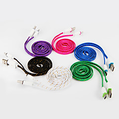 USB 2.0 Type C Braided Cable For Samsung Huawei Sony Nokia HTC Motorola LG Lenovo Xiaomi 100 cm PVC