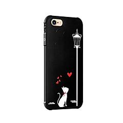 Недорогие Кейсы для iPhone 5-Кейс для Назначение Apple iPhone 7 Plus iPhone 7 Защита от удара С узором Кейс на заднюю панель Кот Мягкий Силикон для iPhone 7 Plus